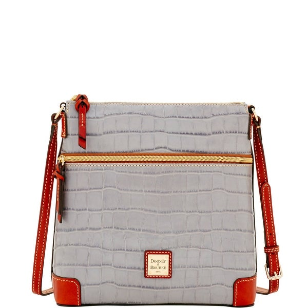 Dooney & Bourke Croco Crossbody (Introduced by Dooney & Bourke at $198 in Jan 2017) - Light grey