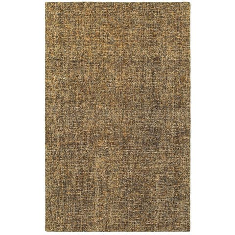 Rustic Shades Boucle Wool Handcrafted Area Rug