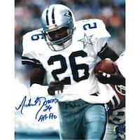 Michael Downs Autographed Dallas Cowboys 8x10 Photo wBall