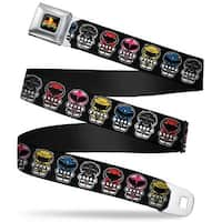 Power Rangers Logo Full Color Power Rangers Chibi Webbing Seatbelt Belt Seatbelt Belt