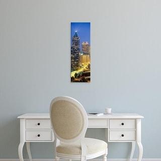 Easy Art Prints Panoramic Images's 'Skyscrapers lit up at night, Atlanta, Georgia, USA' Premium Canvas Art