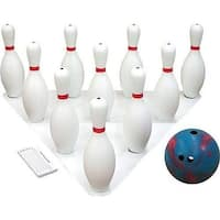 Olympia Sports GA687P Bowling Basket with Pins & Two 2.5 lbs Balls