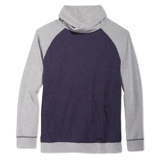 Univibe NEW Blue Gray Men Size XL Raglan Colorblock Funnel Neck Sweater