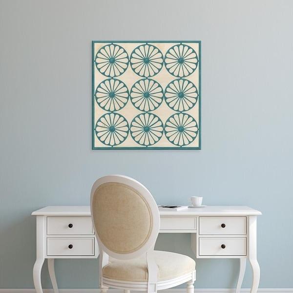 Easy Art Prints June Erica Vess's 'Floral Trellis V' Premium Canvas Art