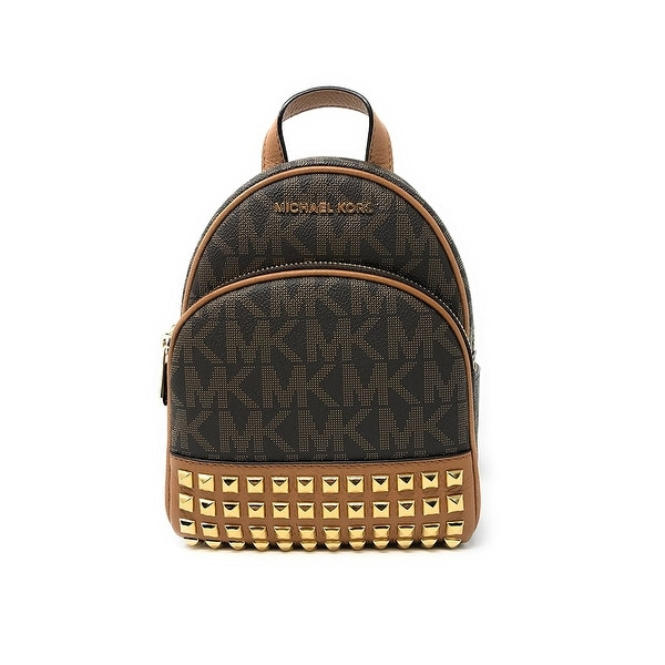 7c8ffd4b64a8 Shop Michael Kors Abbey Extra Small Studded Backpack In Brown - Free ...