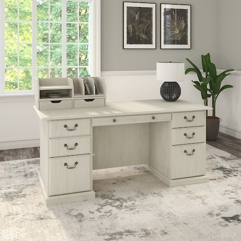 Saratoga Executive Desk with Drawers and Organizers by Bush Furniture