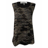 Kasper Women's Plus Size Knit Shell Top (3X, Black Multi) - Black Multi - 3X