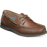 Nunn Bush Men's Bayside Lites Two Eye Boat Shoe Dark Brown Leather