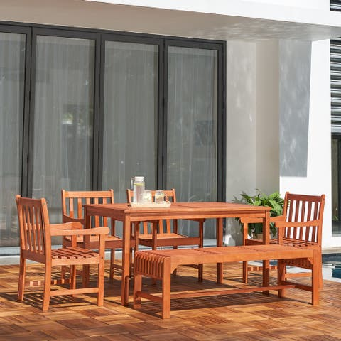 Waimea 6-piece Wood Patio Dining Set