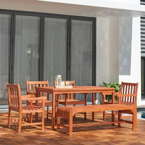 Waimea 6-piece Wood Patio Dining Set