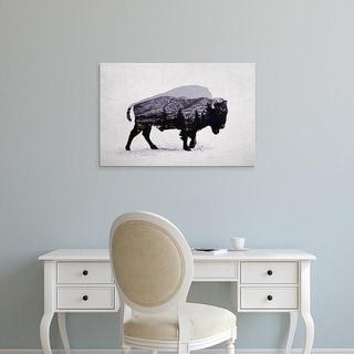 Easy Art Prints Davies Babies's 'The American Bison' Premium Canvas Art