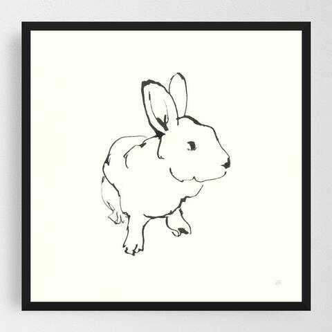 Animals Black and White Minimal Framed Wall Art Print