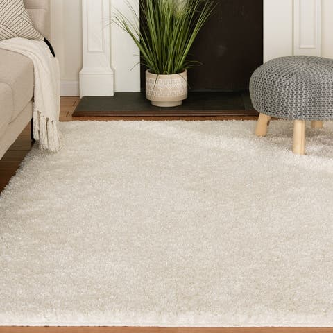 Havannah White Tufted Shag Rug