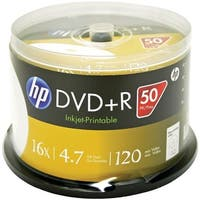Hp 4.7gb Dvd+rs 50-ct Printable Spindle