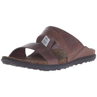 Merrell Womens Around Town Leather Open Toe Slide Sandals - 5 medium (b,m)