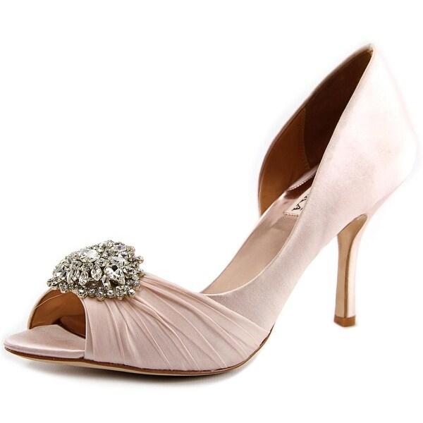 1f8f50110b1e Shop Badgley Mischka Pearson Women Peep-Toe Canvas Pink Heels - Free ...
