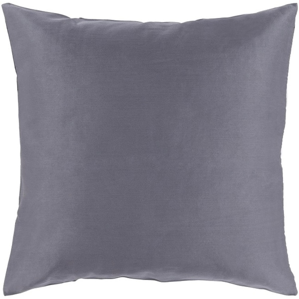 "22"" Charcoal Gray Woven Decorative Square Indoor Throw Pillow"