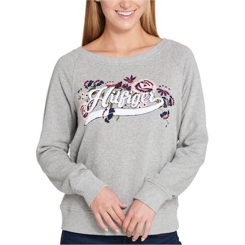 Tommy Hilfiger Womens Embroidered Logo Sweatshirt