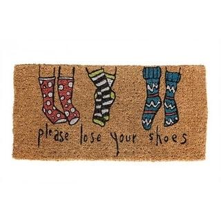 """Natural Coir Doormat """"Please Lose Your Shoes"""