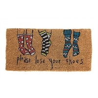 "Natural Coir Doormat ""Please Lose Your Shoes"
