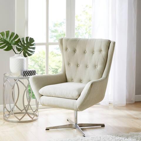 Madison Park Leondrea Cream Swivel Chair