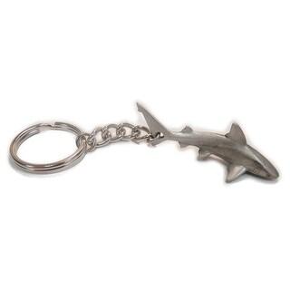 Big Blue Reef Shark Keychain Pewter