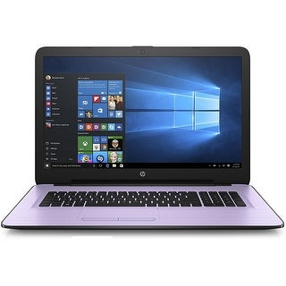HP 17-x113cy Intel Core i3-7100, 8GB, 17.3 HD+ WLED Laptop Office 365 Bundle - lilac