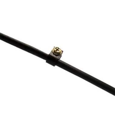 "Gardner Bender PEC-31525 Coaxial Cable Clamp, 1/4"", Black"