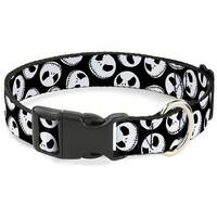 Buckle-Down Nightmare Before Christmas Jack Expressions Pet Collar - Large
