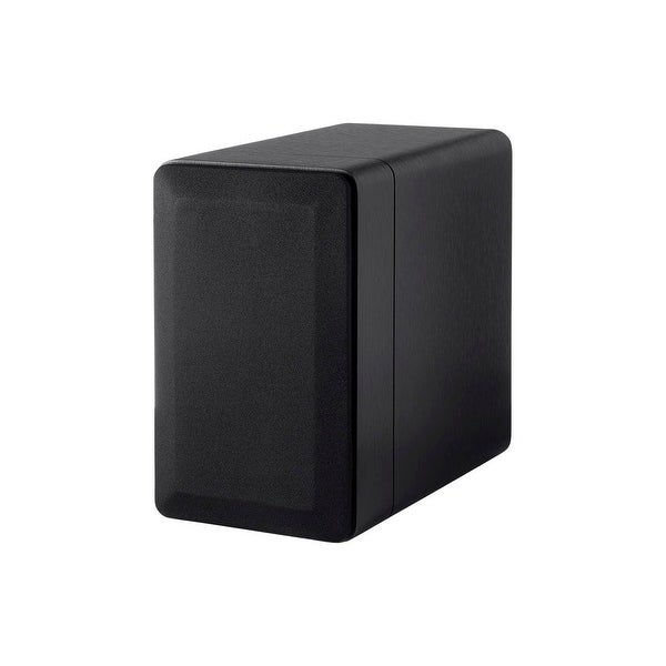 Monoprice Select 525 Inch 2 Way Bookshelf Speakers Pair Black Finish