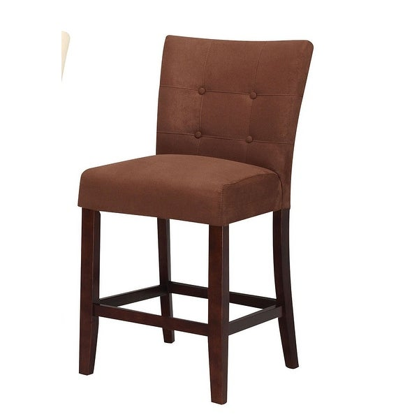 Set Of 2 Kitchen Counter Height Chairs With Microfiber: Shop Counter Height Chair (Set-2), Chocolate Microfiber