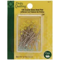 Size 22 100/Pkg - Dritz Quilting Crystal Glass Head Pins