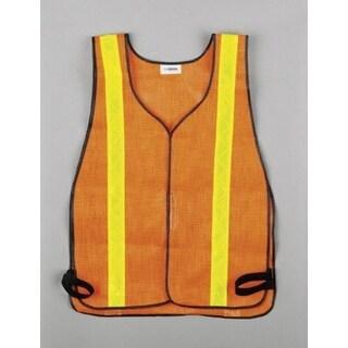 C.H. Hanson 55150 Safety Vest With Reflective Stripe, Fluorescent Orange
