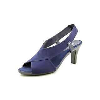 A2 By Aerosoles Rotmail Women  Peep-Toe Canvas Blue Slingback Heel