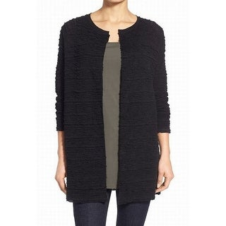 Eileen Fisher NEW Black Women's Size Small S Textured Cardigan Sweater