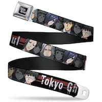 Tokyo Ghoul Full Color Black White Tokyo Ghoul 9 Character Faces Stripe Seatbelt Belt