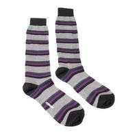 Missoni GM00COU4191 0003 Black/Purple Knee Length Socks - S