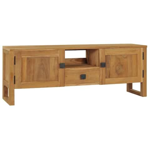 """vidaXL TV Cabinet 47.2""""x12.6""""x17.7""""Solid Teak Wood"""