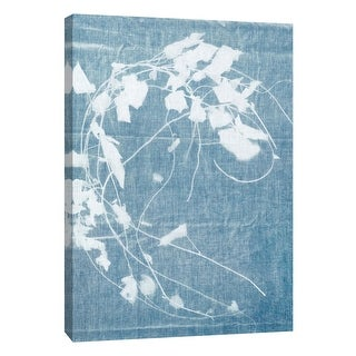 """PTM Images 9-109035  PTM Canvas Collection 10"""" x 8"""" - """"Cyanotype Plant 3"""" Giclee Flowers Art Print on Canvas"""