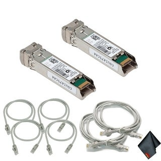 Cisco10Gbase-LR SFP+ Transceiver with Extra Cat5 Cables (2-Pack)