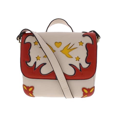 BCBGeneration Womens Aria Saddle Handbag Faux Leather Western - Medium