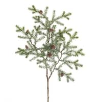 Club Pack of 12 Dark Green and Brown Decorative Artificial Christmas Pine Sprays 28.5""