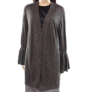 Alfani NEW Green Olive Open-Front Women's Size Large L Cardigan Sweater