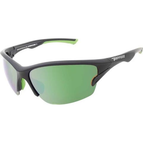 a64134ef63947 Peppers Pacifica Sunglasses Matte Black Brown Polarized Diamond Green  Mirror - US One Size