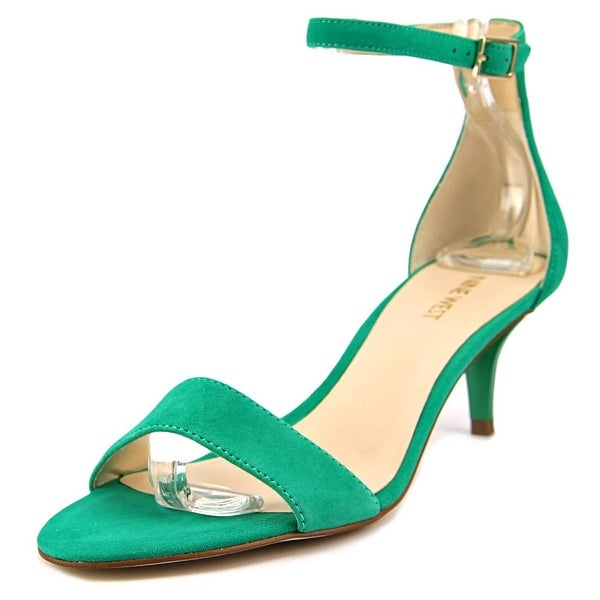 Nine West Leisa Women  Open Toe Leather Green Sandals
