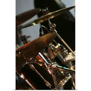 Poster Print entitled Drum kit at Nantwich Jazz