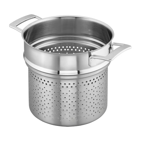 Demeyere Industry 5-Ply 8-qt Stainless Steel Pasta Insert (Fits 8-qt Stock Pot) - Stainless Steel
