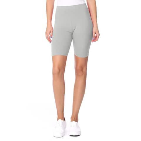 Women's High Waist Solid Casual Pants Biker Shorts