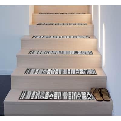 Boho Geometric Non-Slip Stair Treads