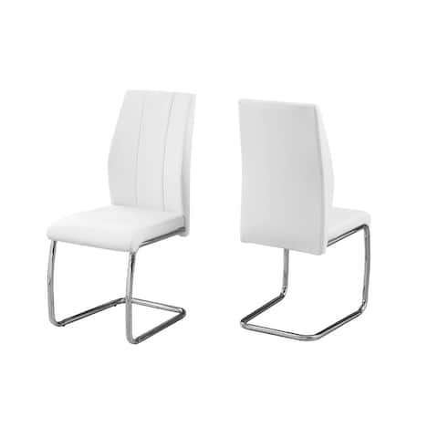 """Offex 39""""H Contemporary and Modern 2 Piece Leather-Look/Chrome Dining Chair"""